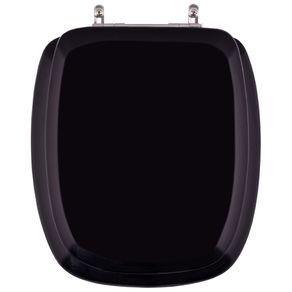 Assento-Sanitario-Almofadado-Stylus-Preto-para-louca-Celite