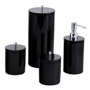 Conjunto-de-potes-para-banheiro---Redondo---Preto