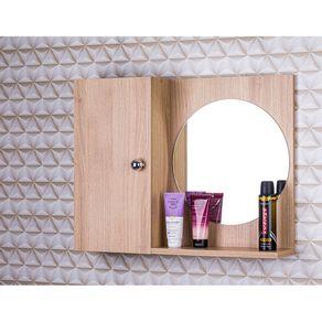 Armario-Com-Espelho-Redondo-P--Banheiro-Cor-de-Madeira-Clara
