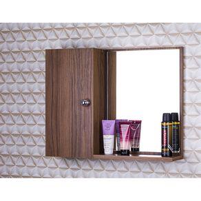 Armario-para-Banheiro-Com-Espelho-cor-Madeira-Escura-Com-Por
