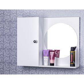 Armario-Para-Banheiro-Com-Espelho-Redondo-cor-Branco-Com-Por